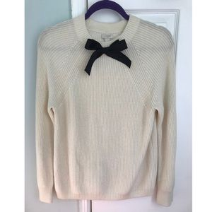 JCrew Knit Bow Tie Sweater🎀